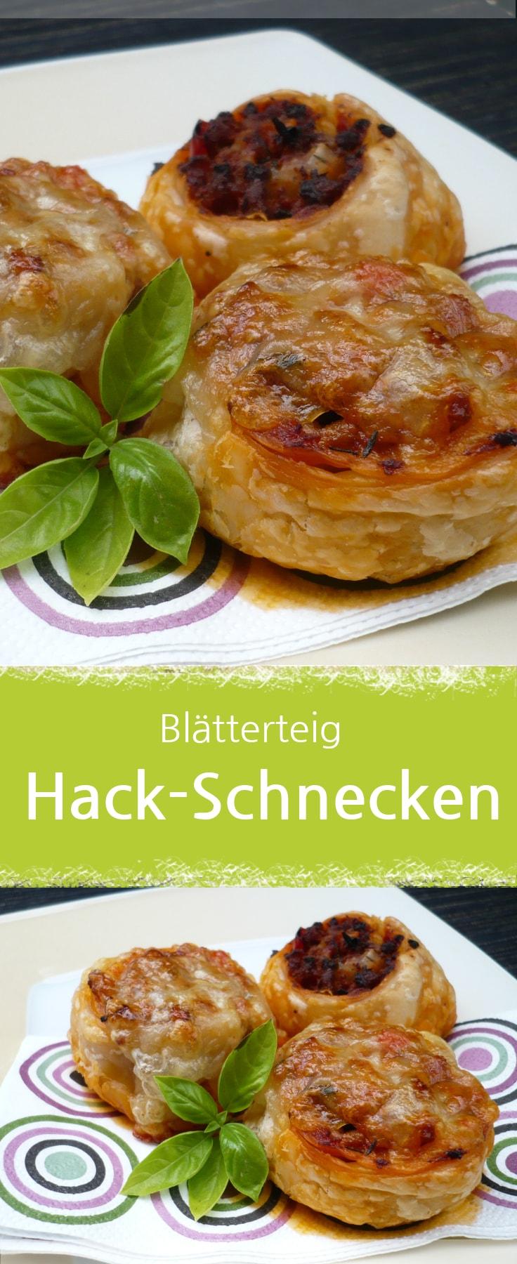Hackfleisch-Schnecken im Blätterteig, toller Fingerfood.