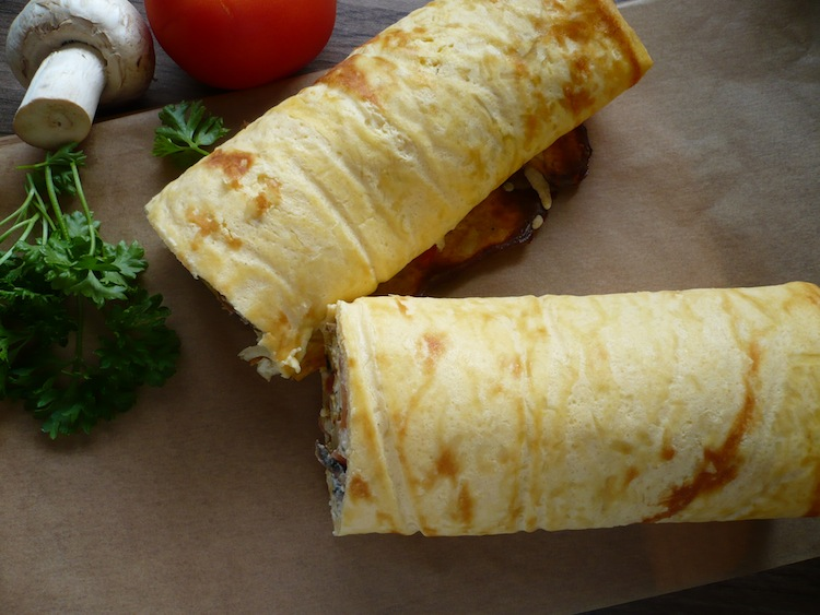 Pizza-Rolle Low Carb