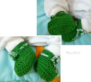 Babyschuhe gehäkelt grün