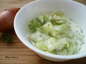 Gurkensalat-Dill-Sahne