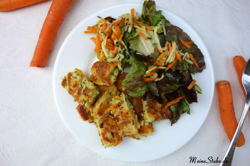 Griessschmarren mit Salat