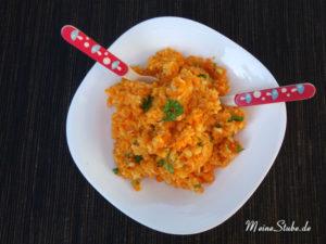 Möhren-Pastinaken-Püree für Babys und Kinder