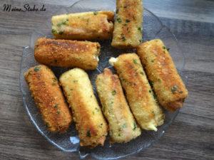 Käse-Schinken-Rolle mit Toast