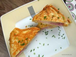 gegrillter Sandwiche mit Käse und schinken