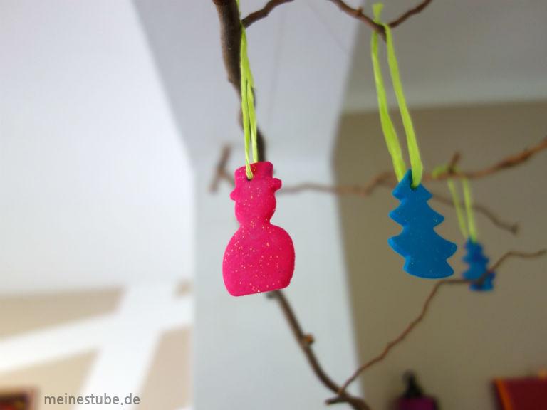 Weihnachtsanhänger pinker Schneemann