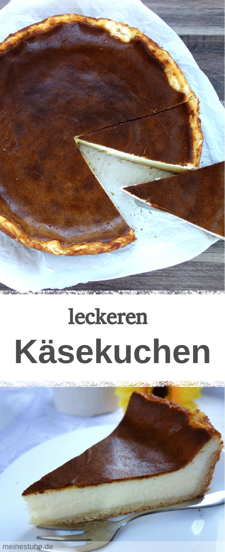 Rezept für leckeren Käsekuchen. Mit Schichtkäse zubereitet und Mürbeteig-Boden.