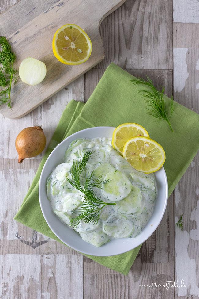 Leckeren Gurkensalat mit Dill, Meinestube2