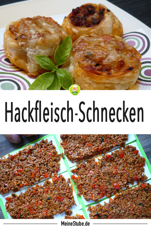 Hackfleisch-Schnecken in Blätterteig gefülltes Fleisch von Meinestube