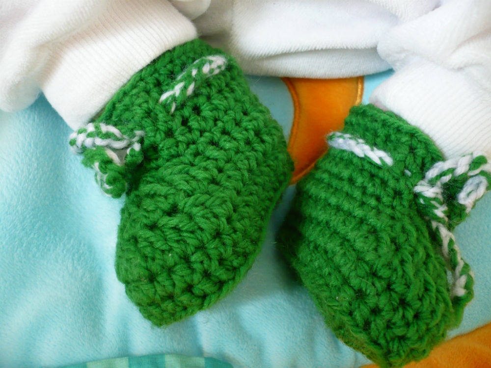 Babyschuhe Gehäkelt In Der Schwangerschaft Meine Stube
