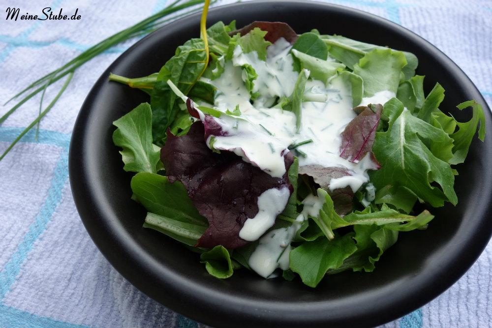Blattsalat-Salatdressing-schmand