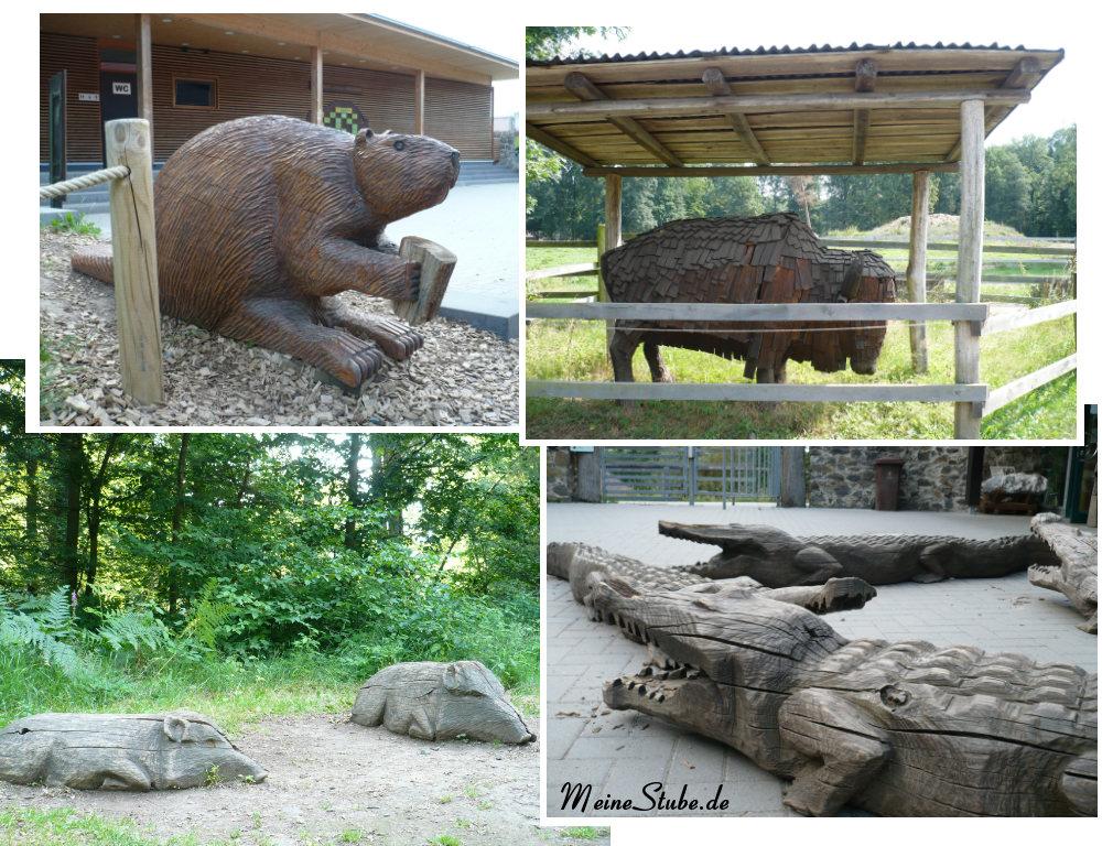 Tiere aus Hol im Wildpark Fasanerie Hanau