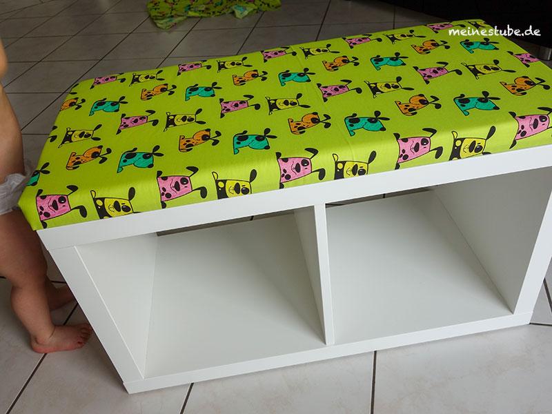 Fertige Sitzbank gebaut aus einem Kallax-Regal, meinestube