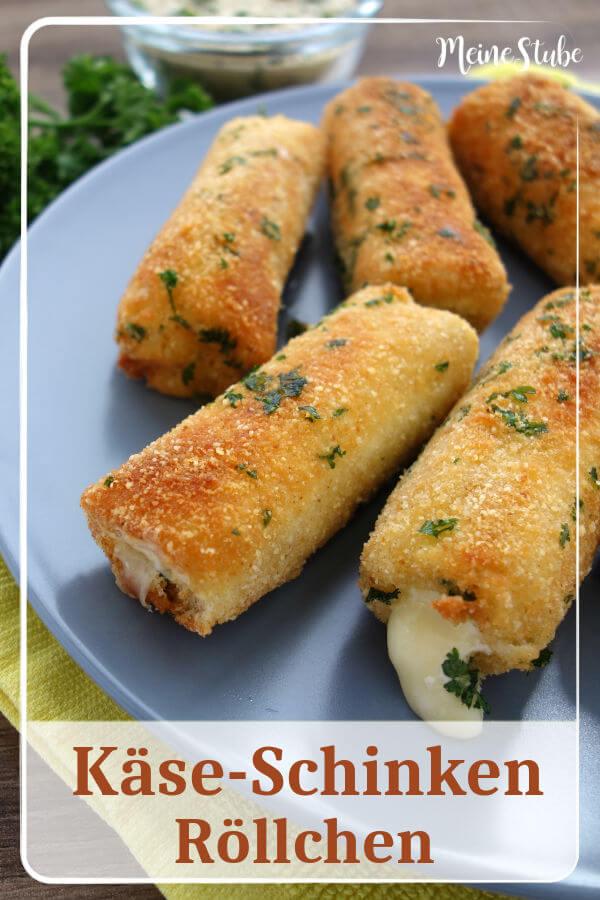 Käse Schinken Röllchen Fingerfood