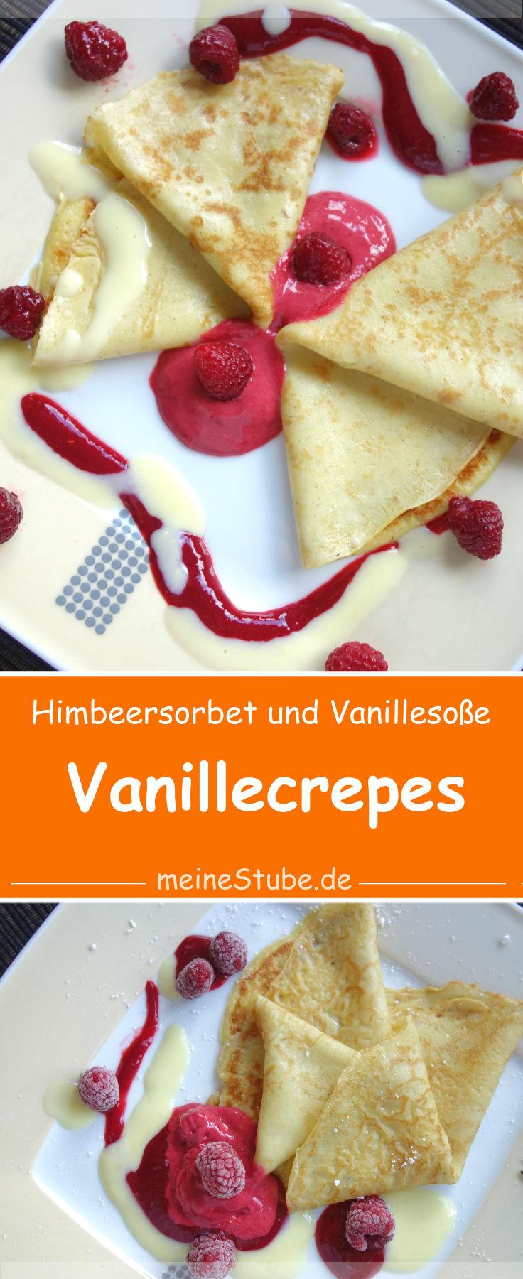vanillecrepes-himbeersorbet-vanillesosse
