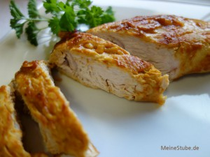 Putenbrustfilet mit Apfelsaft-Honig-Senf Marinade