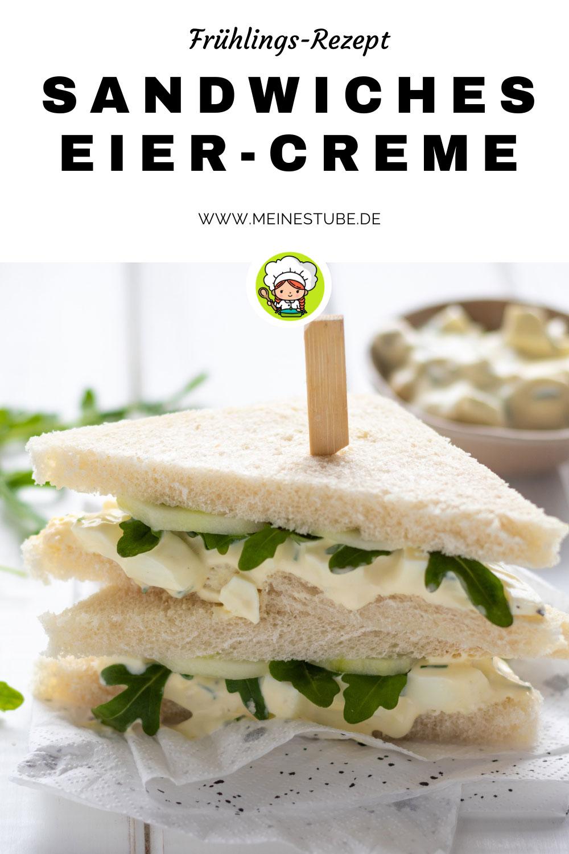 Sandwiches mit Eiercreme, meinestube