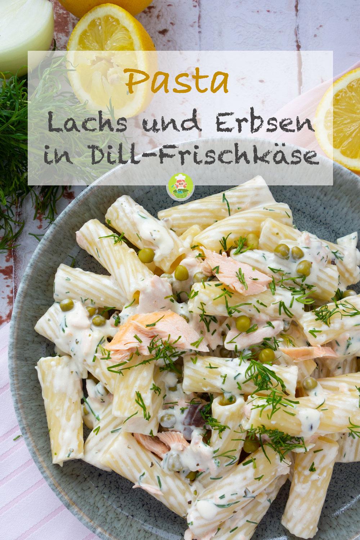 Rezept von Meinestube, Nudeln mit lachs und Erbsen in Frischkäsesauce