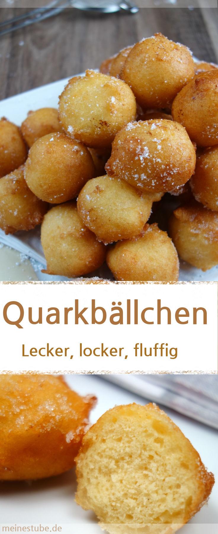 Quarkbällchen ohne Hefe, lecker locker fluffig