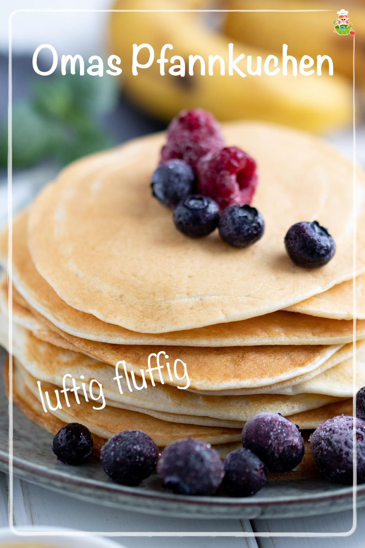 Luftige und fluffige Eierpfannkuchen, meinestube Ideal auch für Kleinkinder. Dazu passen super Früchte, oder süßer Belag, genauso wie herzhaftes