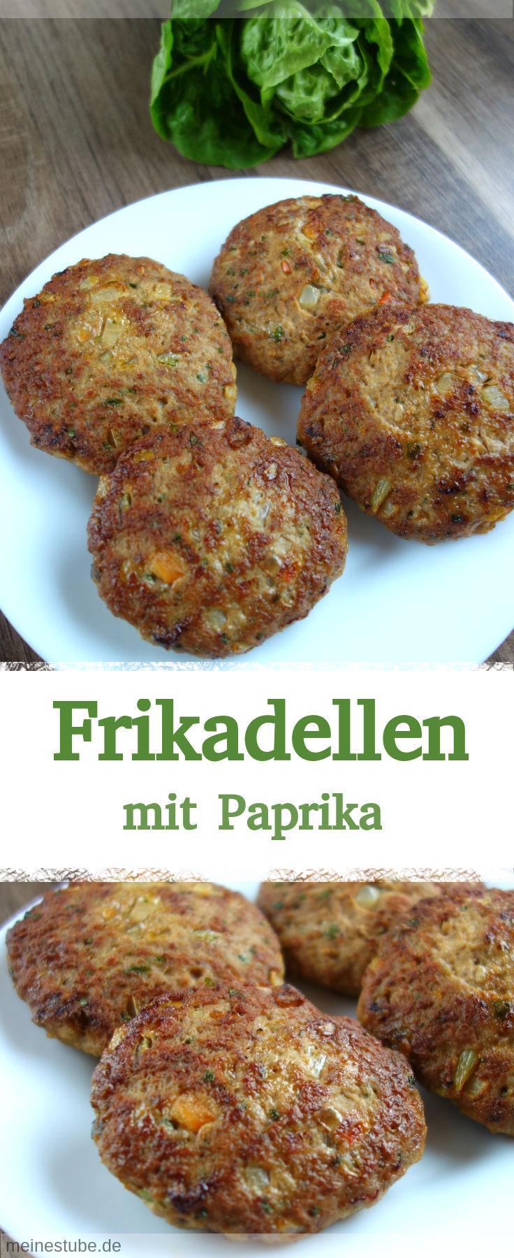 Rezept für leckere und saftige Frikadellen mit Paprika.