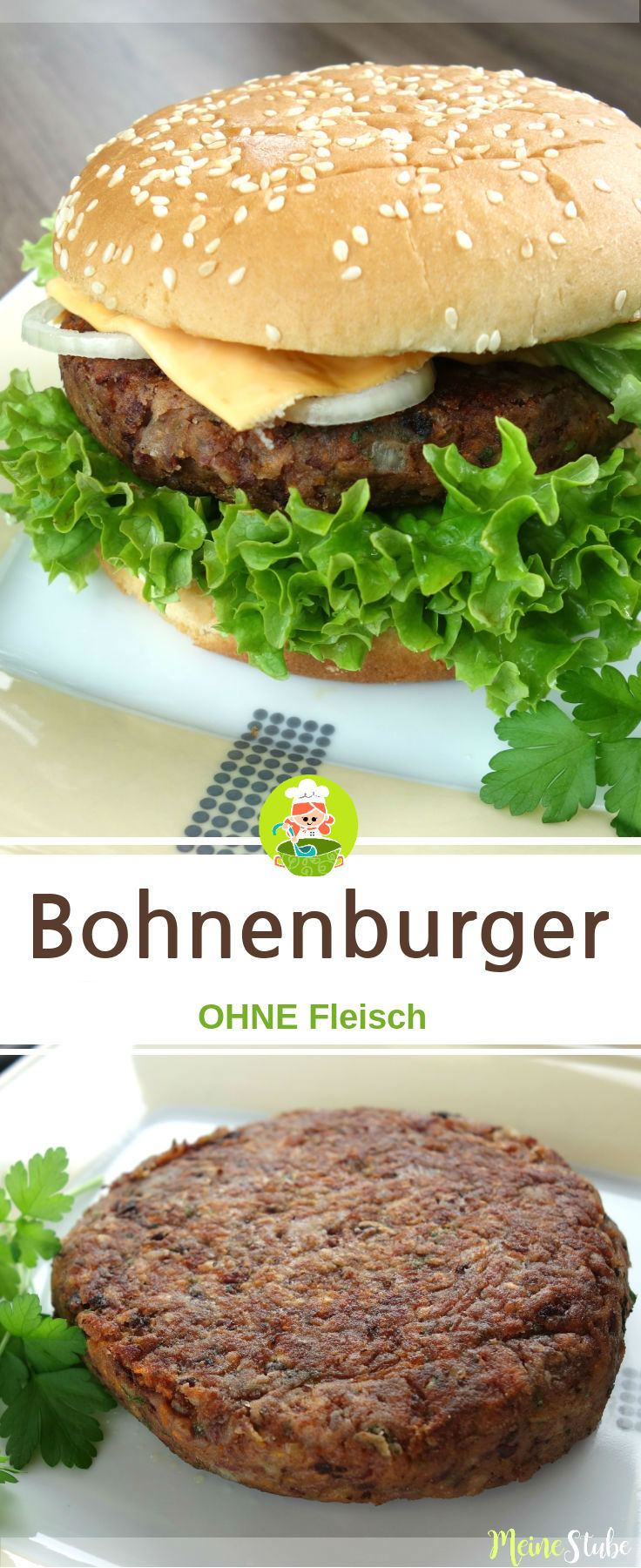 Leckeres Rezept für einen Bohnenburger ohne Fleisch.