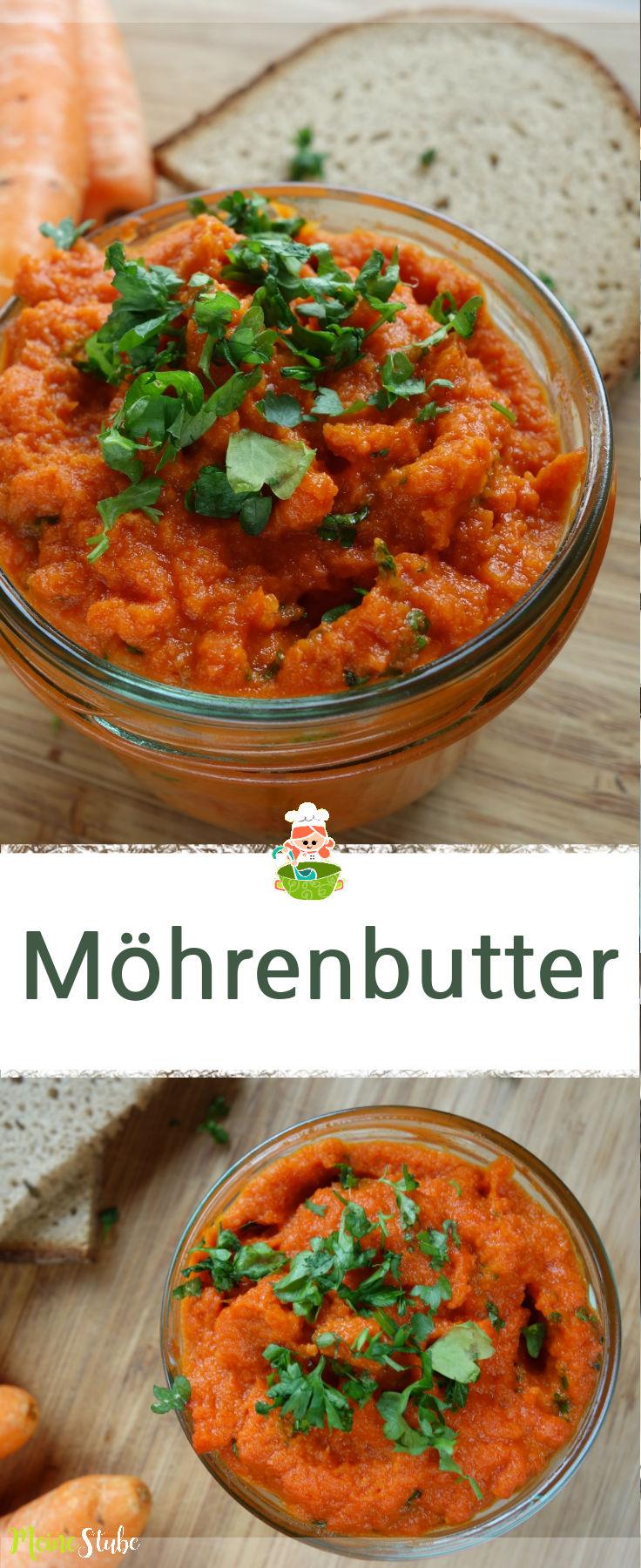 Rezept für gesunde und leckere Möhrenbutter.