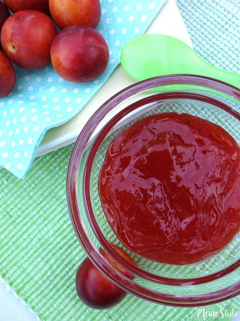 Rezept für Mirabellen Marmelade ohne Haut eingekocht