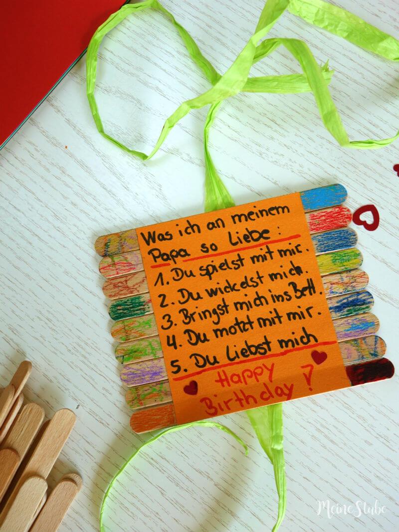 DIY Geburtstagsgeschenk basteln für Papa