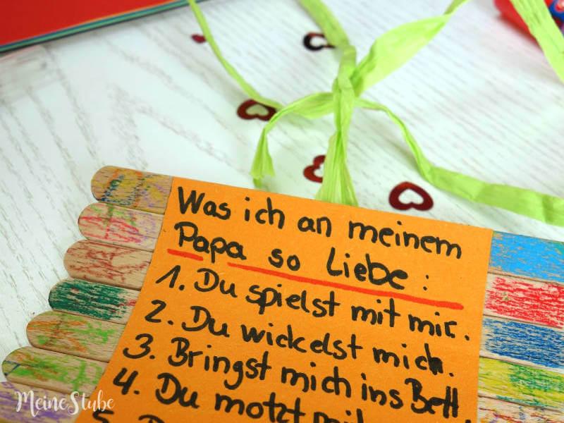 Geburtstagsgeschenk Basteln Mit Kids Happy Birthday Papa