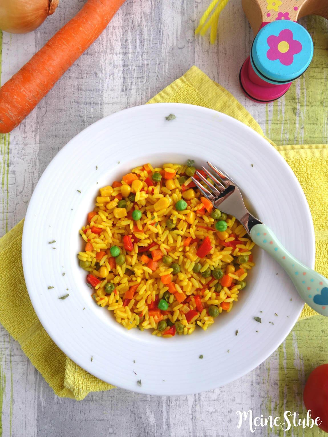 Spanisches Reisgericht Paella für Kinder
