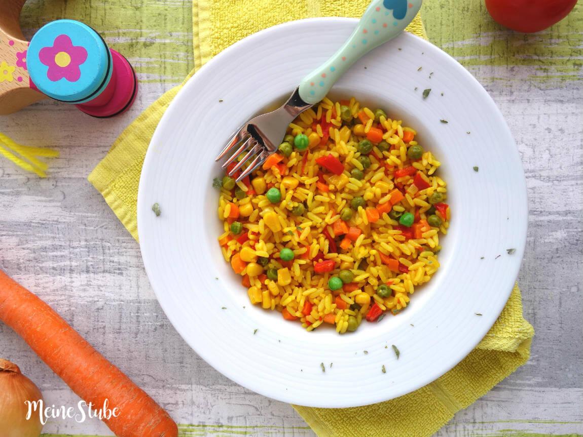 Schnelle Sommerküche Für Kinder : Kinder paella mit buntem gemüse ein vegetarisches reisgericht