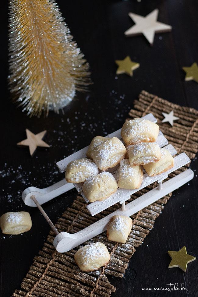 Weihnachtsplätzchen mit Marzipan, meinestube
