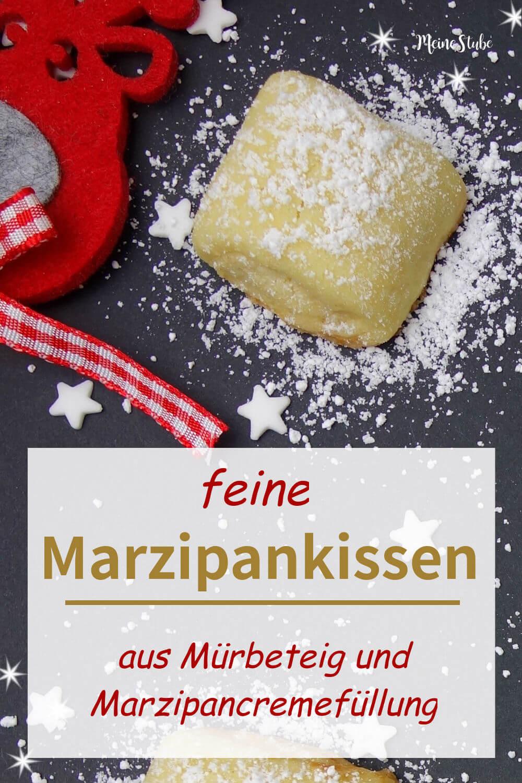 Rezept und Anleitung für Marzipankissen Weihnachtsplätzchen