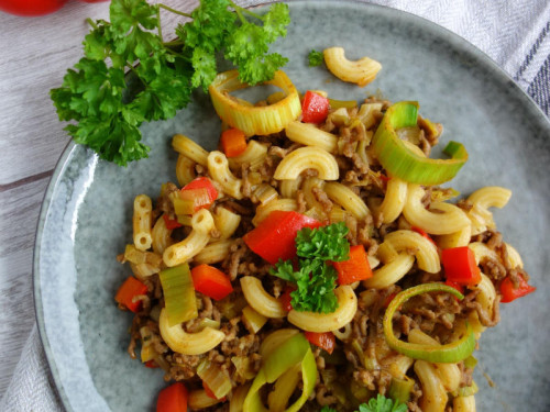 Schnelle Hackfleischpfanne mit Gemüse - Meinestube