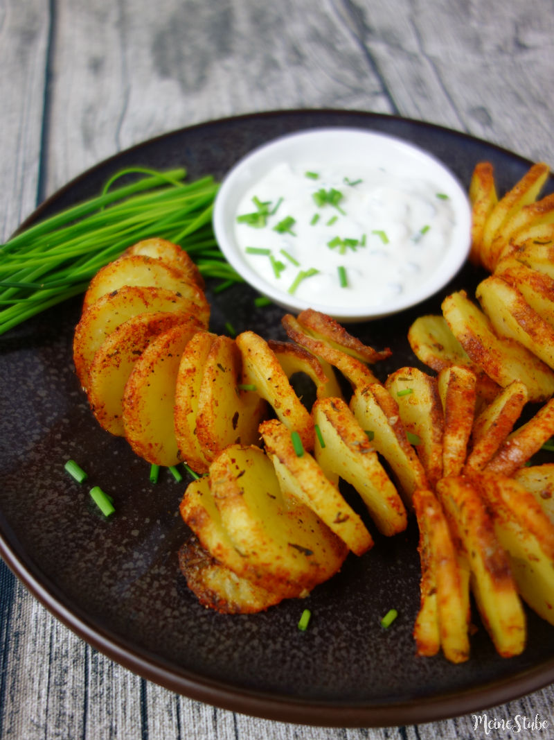 Leckere Kartoffelspiralen aus dem Backofen mit Lurch