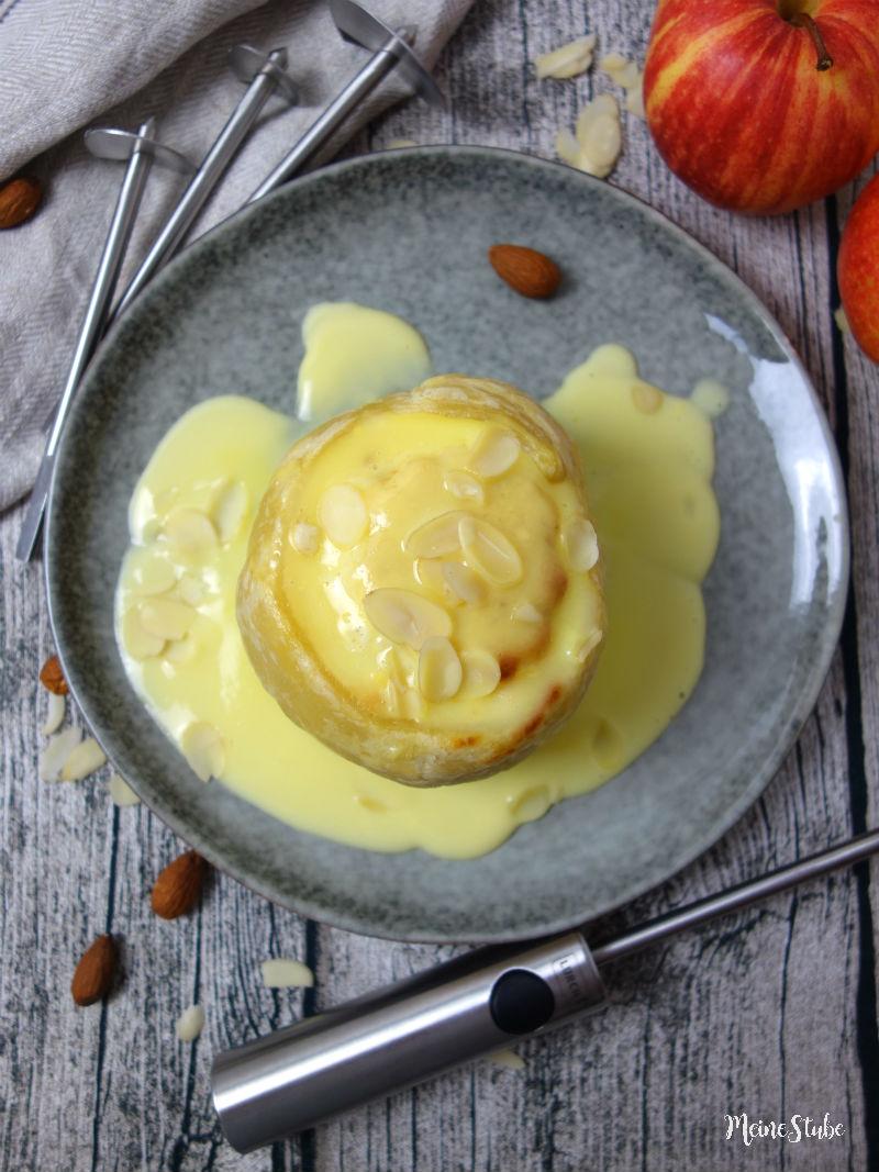 Gefüllter Bratapfel, ausgehölt mit Lurch Twister