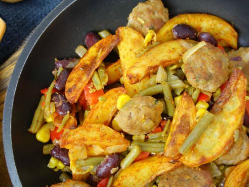 Rezept für Western Pfanne mit Kartoffeln, meinestube
