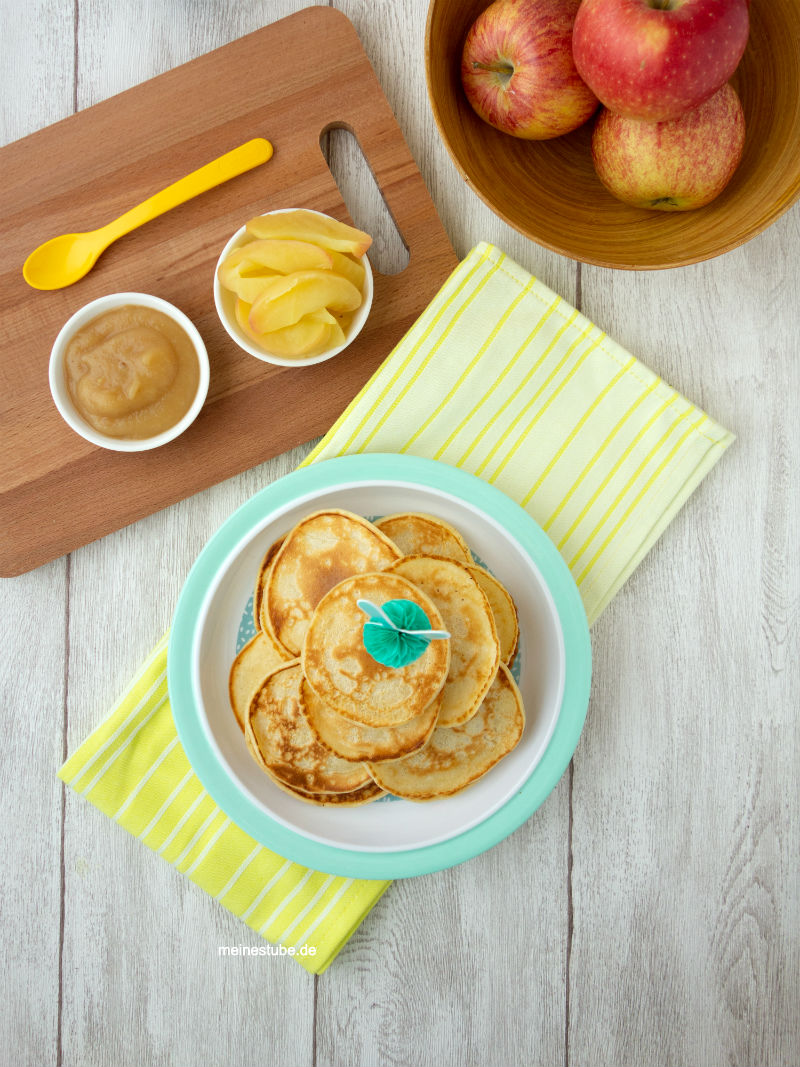 Pancakes mit buttermilch für Babys und Kleinerkinder, schmecken auch ohne Zucker