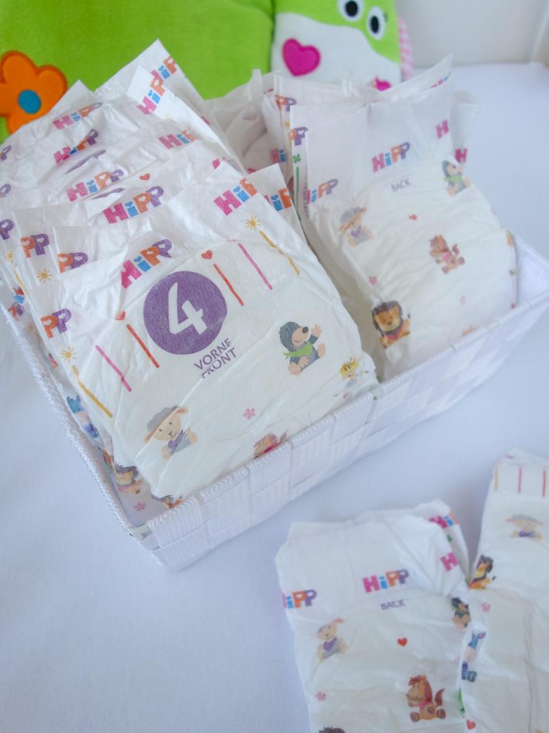 Hipp Babysanft Windeln mit süßen Tiermotiven