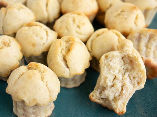 Angebissener Baby Bananen-Muffins, meinestube
