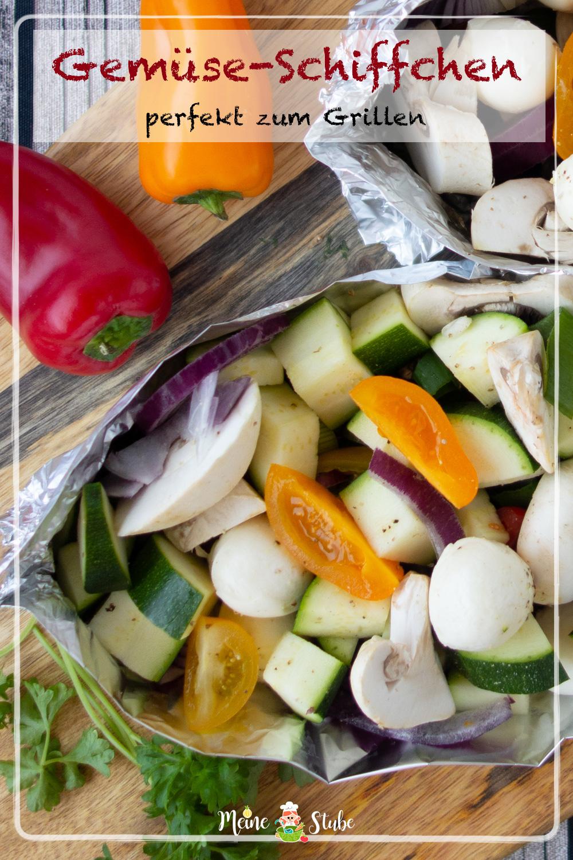 Gemüse-Schiffchen, Beilage zum Grillen und viel Gemüse, meinestube