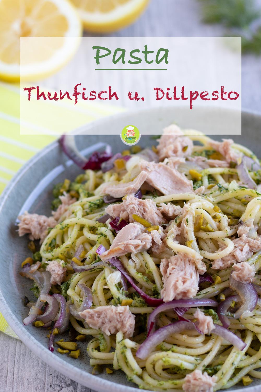 Rezept für Spaghetti mit Thunfisch und Dillpesto, meinestube