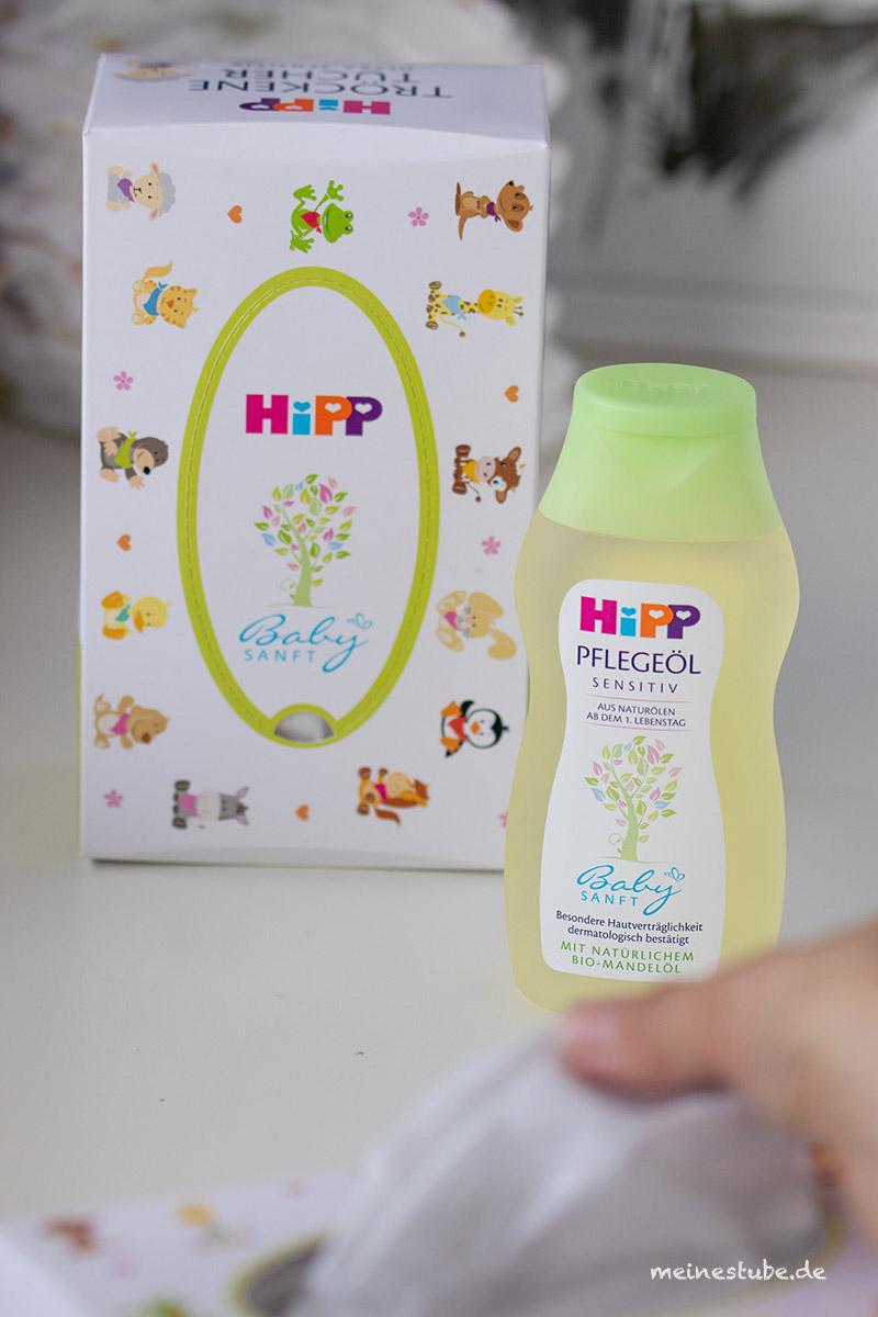 Mit HiPP Tücher und das Pflegeöl, meinestube