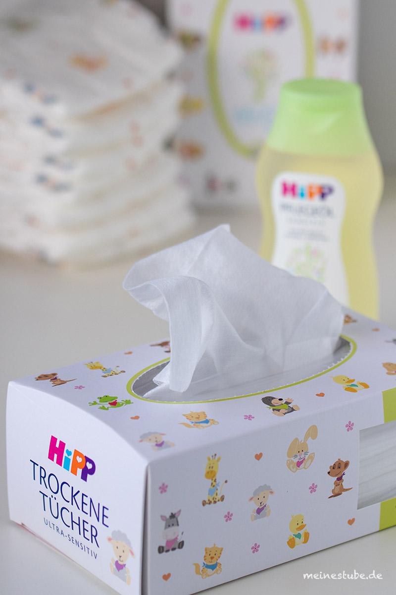 Hipp trockene Tücher, nicht nur für die Babypflege