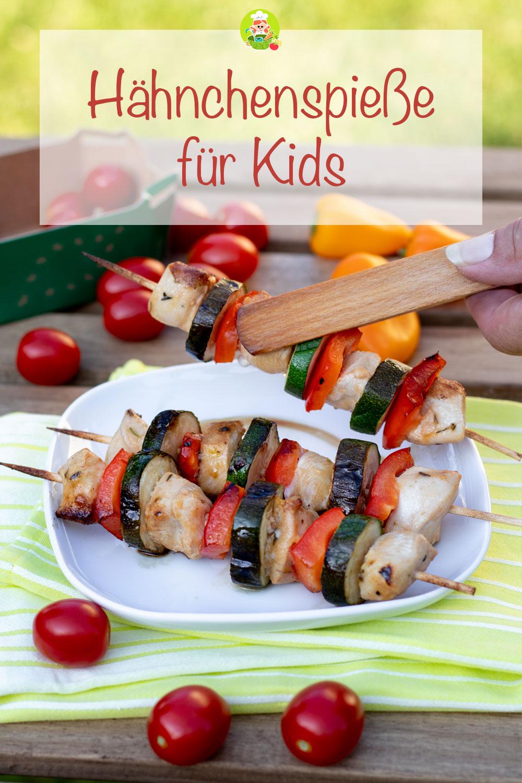Rezept für zarte und fruchtige Hähnchspieße für Kinder zum Grillen