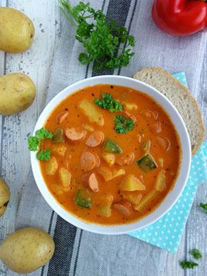 Rezept für ein Familienessen, Kartoffelgulasch