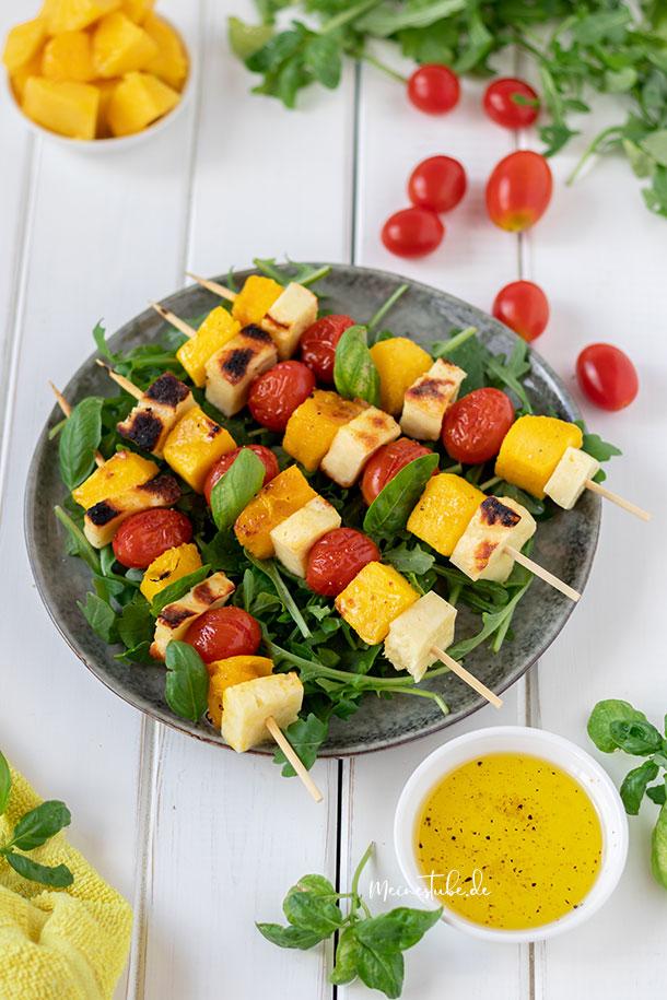 Vegetarische Spieße für den Grill, meinestube