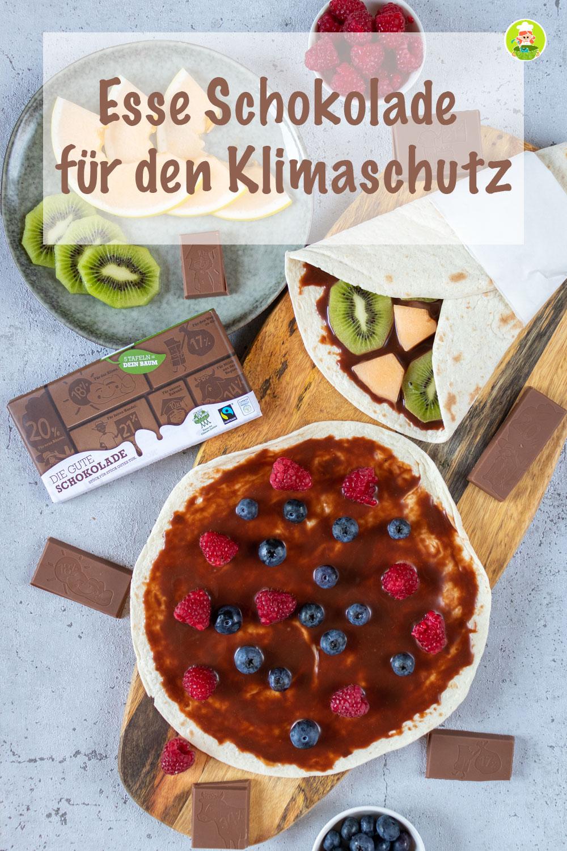 Esse die gute Schokolade für den Klimaschutz, meinestube