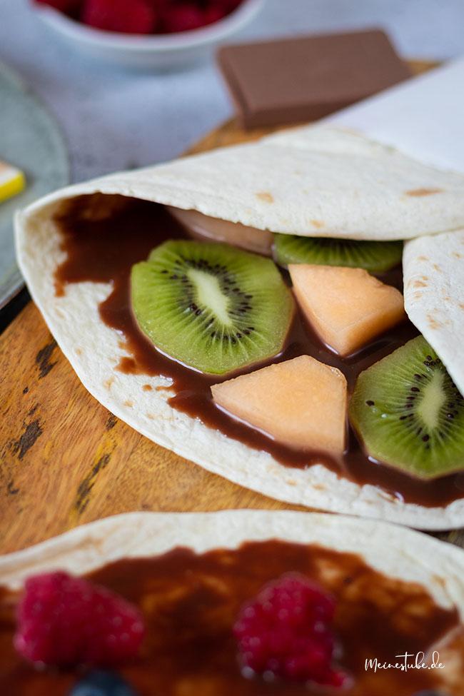 Wrap mit Kiwi und Melone, meinestube