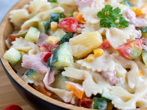 Nudelsalat mit viel Gemüse, meinestube